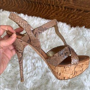 Miu Miu python sandal heels